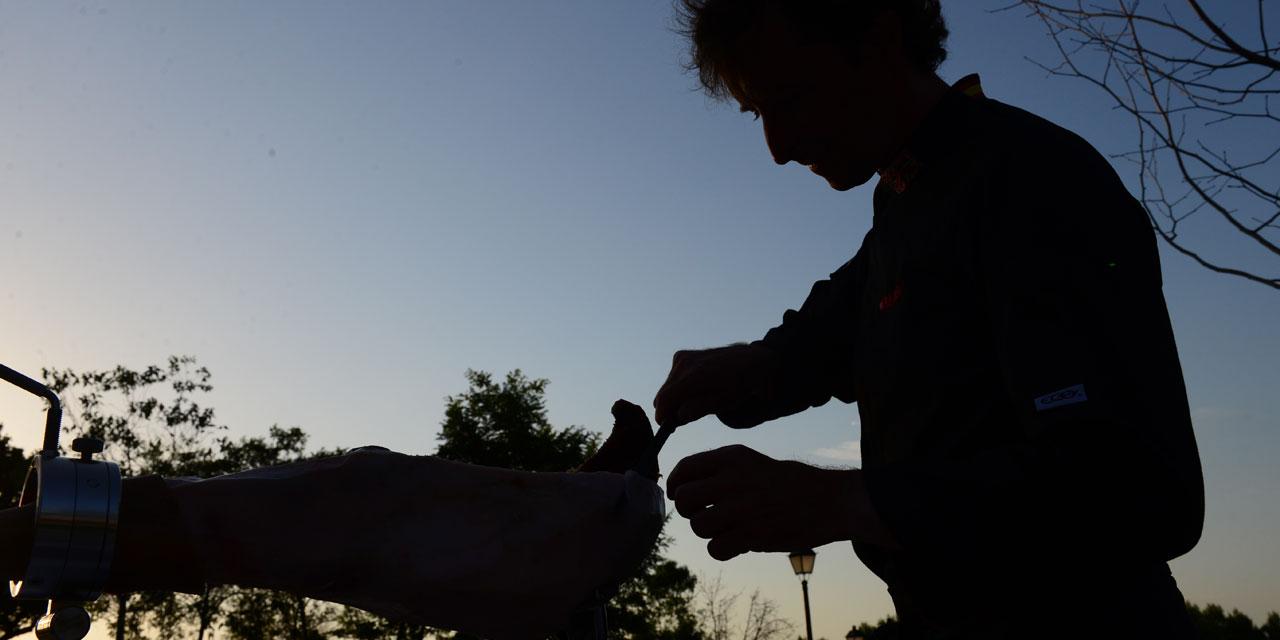 Cortador de jamón en Huesca