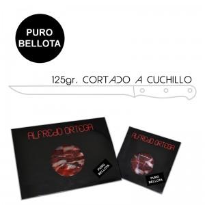 Jamón Puro Bellota Cortado a Cuchillo 125gr